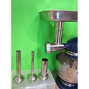 Original Stainless Steel Meat Grinder for Kitchenaid Mixer with Sausage Making Kit