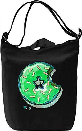 Cosmic Green Donut Borsa Giornaliera Canvas Canvas Day Bag  100% Premium Cotton Canvas  DTG Printing 