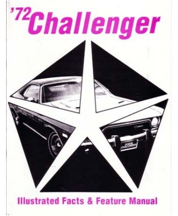1972 DODGE CHALLENGER Facts Features Sales Brochure