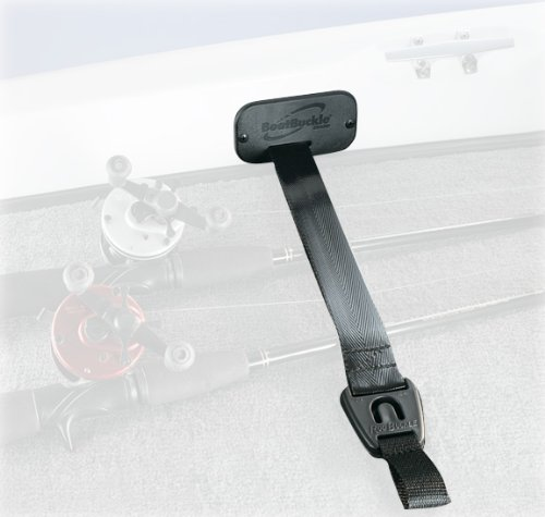 BoatBuckle F14200 Gunwale/Deck Mount Retractable Rod Tie-Down ()