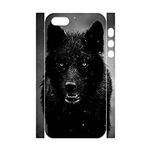 Black Wolves Customized 3D Case for Iphone 5,5S, 3D New Printed Black Wolves Case