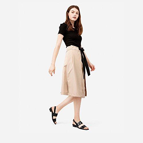 EU36 CM Décontractées Noir Chaussures Femme Noir YQQ Chaussures Couleur Confortable taille 5 6 Fille Bande Dame Bas Uk3 Carrée Talons Des 2 De Mode Tête Sandales UBRxWwCYvR
