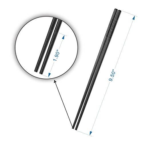 COZILIFE Reusable Chopsticks 8-Pairs, Premium Quality Fiberglass Chopsticks for Household and Restaurant, 9 1/2 Inches in length, Kraft Box Package