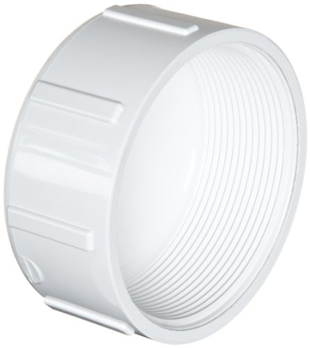 Spears 448 Series PVC Pipe Fitting, Cap, Schedule 40, 4