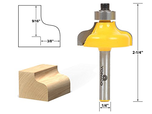 - Yonico 13146q Ogee Edging and Molding Router Bit with Medium 1/4