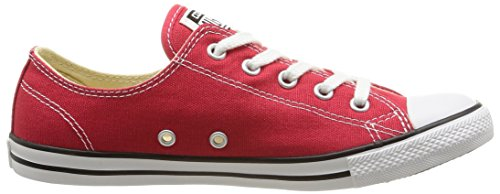 Converse Leath Dainty 289050 52 Red Ox Sneaker donna 17 Rouge CCZrpga4