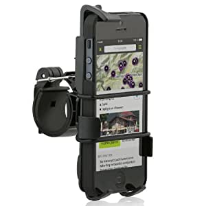 Wicked Chili 734+706c - Soporte de bicicleta para Apple iPhone 5/ 4/ 4S, negro