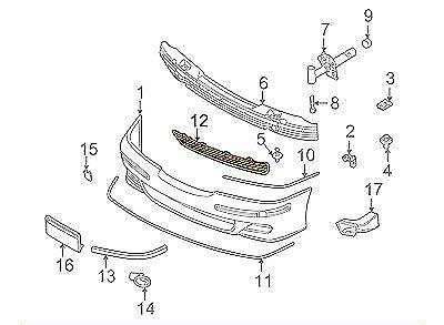 GTV INVESTMENT 5 E39 M-Technic Front Bumper Center Grill Mesh 51112495280 2495280 NEW
