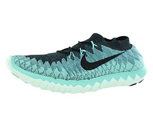 Nike Women's Wmns Free 3.0 Flyknit, MINERAL TEAL/BLACK/HYPER TURBO, 10.5 M US