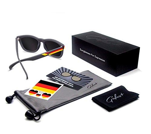Mujer 2018 Goma Gafas Polarizadas Hombre Protección Para UV Alemania de 100 Moda sol BwwFqtYC