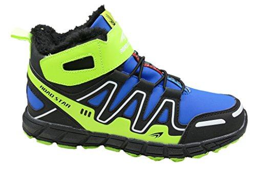 gibra - Zapatillas de Material Sintético para mujer azul/verde fluorescente