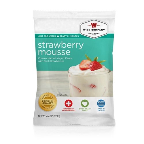 Wise Foods Dessert Dish Strawberry Mousse 4 Servings