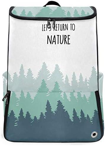 リュック メンズ レディース リュックサック 3way バックパック 大容量 ビジネス 多機能 並べる木の景色 自然 スクエアリュック シューズポケット 防水 スポーツ 上下2層式 アウトドア旅行 耐衝撃
