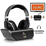 Best Headphones For Tv Watchings - Digital Wireless Over-Ear Headphones for TV,Artiste 2.4GHz UHF/RF Review