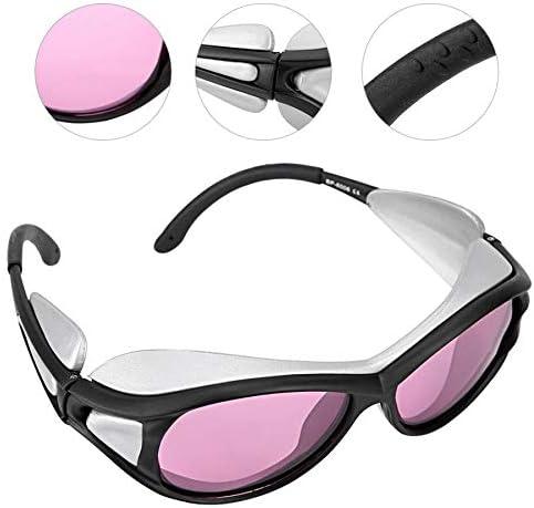ZUEN Protección De Los Ojos Gafas De Seguridad Láser Infrarrojo 808Nm / 790-830Nm Gafas De Seguridad De Protección Rosa Gafas De Seguridad Gafas