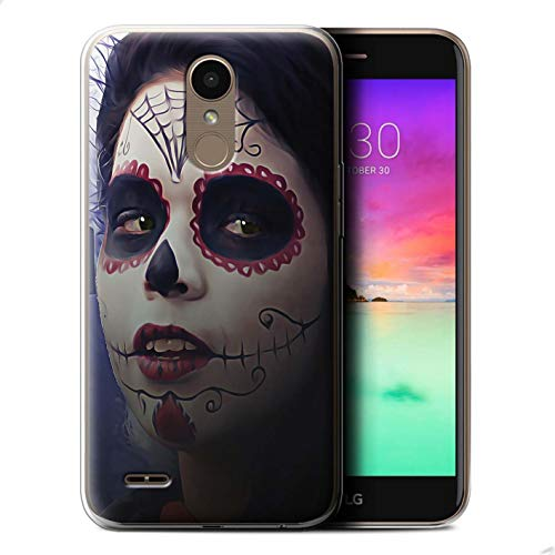 STUFF4 Gel TPU Phone Case/Cover for LG K10 2017/M250N/X400 / Halloween Makeup Design/Day of The Dead Festival Collection -