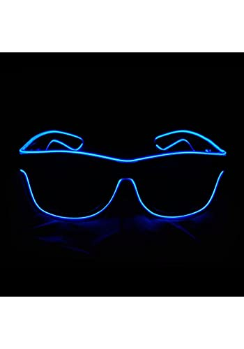 3010cb05271 Aquat Light up El Wire Neon Rave Glasses Glow Flashing LED Sunglasses  Costumes For Party