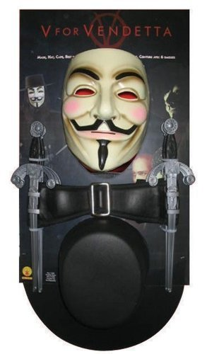 [V For Vendetta Kit Men's Costume by Halloween FX] (V For Vendetta Costumes Kit)
