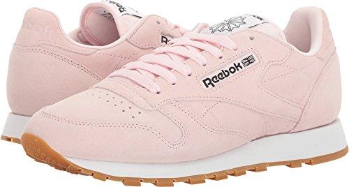 Reebok Men's Classic Lthr Pastels Fashion Sneaker, Porcelain Pink/Classic White/Coal-Gum, 11 M (Pastel Pink Apparel)
