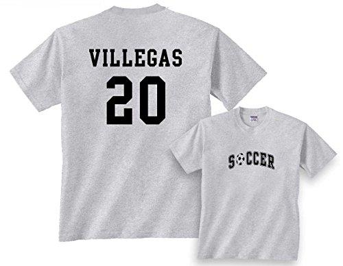 Ash Youth Football - Custom Soccer T-Shirt-Ash/Black Print-Youth Large