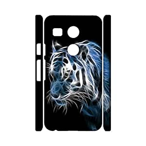 Universal 3D Hard Plastic Case Snap on LG Nexus 5X,Pompous Visual Tiger Photo Printed Phone Case for LG Nexus 5X