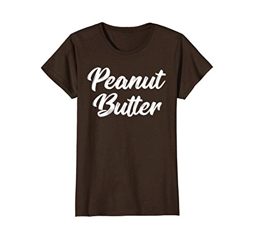 Womens Peanut Butter and Jelly Couples T-Shirt Twins Costume Small (His And Hers Halloween Costumes 2017)