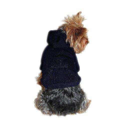 - Anima Navy Blue Pullover Drawstring Hoodie Sweatshirt, Medium