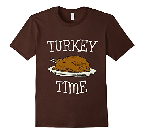 Time Turkey (Mens Turkey Time T-Shirt XL Brown)