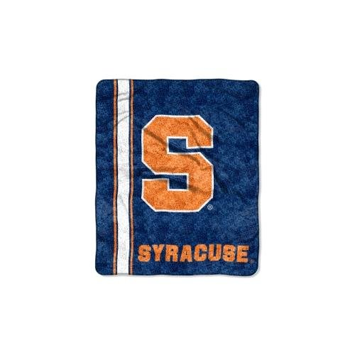 Officially Licensed NCAA Syracuse Orange Jersey Sherpa on Sherpa Throw Blanket, 50' x 60'