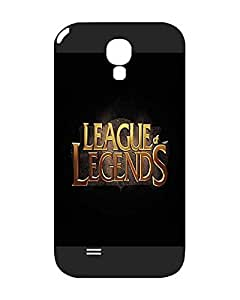 League Of Legends Logo Galaxy S4 Funda Case, Video Games Cartoon Anime Theme [Slim Guard] Back Cover for Samsung Galaxy S4 i9500