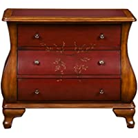 Pulaski DS-P017064 Two Toned Hand Painted Bombay Chest, Red