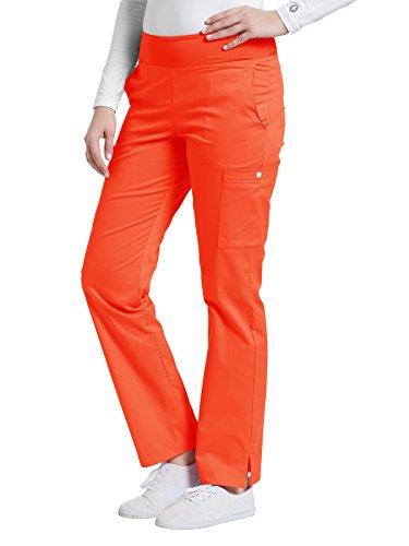 Oasis Allure By White Cross Women's Yoga Elastic Waistband Scrub Pant Small (Orange Oasis)