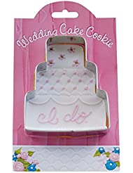 Wedding Cake Cookie and Fondant Cutter - Ann Clark - 4.1 Inches - US Tin Plated Steel