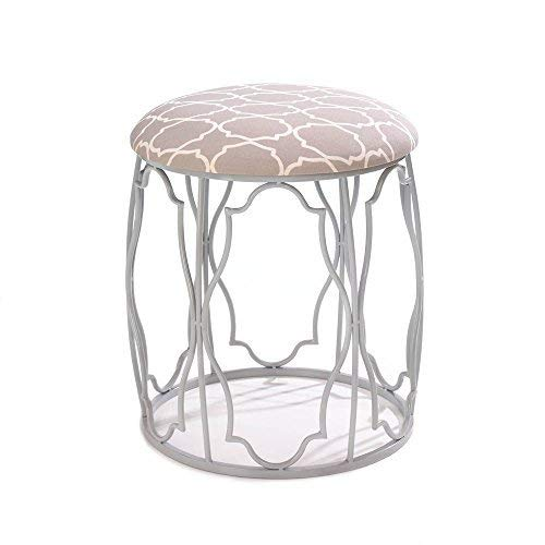 Bathroom Vanity Stool Silver Metal Makeup Table Chair Grey Accent Chair Elegant Patterned Stools Chic Decorative Vanity Table Stool Round Iron Stool Chairs Pink Bedroom Bathroom Furniture Buy Online In Aruba At