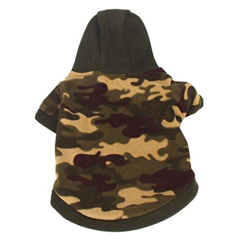 Ropa Para Mascotas. Vestido de camuflaje con capucha muy calentito.