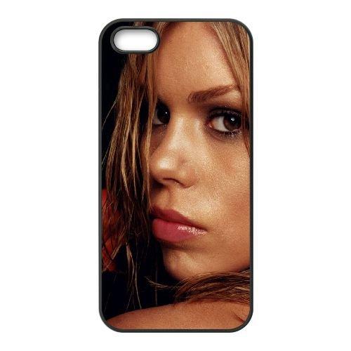 Billie PiPer Look Eyes Hair Flower coque iPhone 5 5S cellulaire cas coque de téléphone cas téléphone cellulaire noir couvercle EOKXLLNCD22224
