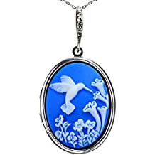 Photo Locket Necklace Pictures Memories Pendant 2 Chains Gift Jewelry