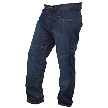 newfacelook Jet Black Motorcyle Motorbike Armour Jeans Pants Trousers Reinforced With Aramid Protection Lining