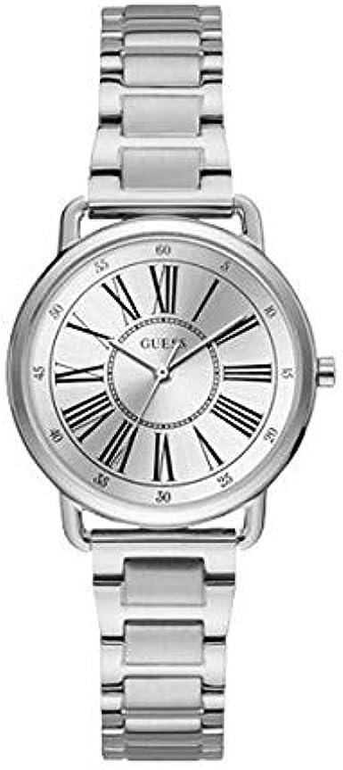 GUESS Reloj Analógico para Mujer de Cuarzo con Correa en Acero Inoxidable 8431242948010
