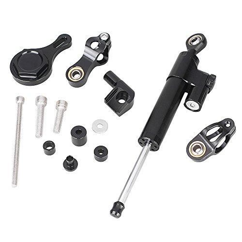 GZYF Steering Damper Stabilizer Bracket for Yamaha YZF R1 R6 06 07 08 09 10 11 12 13 (Best Steering Damper For R6)