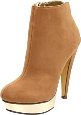 Michael Antonio Women's Musa Ankle Boot,Tan Suede,6.5 M US