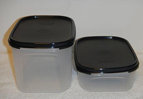 Tupperware Modular Mates Mini Rectangle #1 and #2, Jet Black Seals
