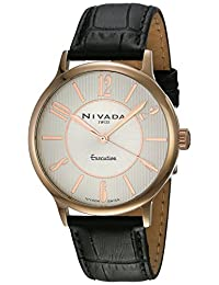 Nivada NP16087MDOPA Empower Reloj Cuarzo Análogo, color Plata/Negro