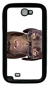 case original cases Dog with Glasses TPU Black case/cover for samsung galaxy N7100/2