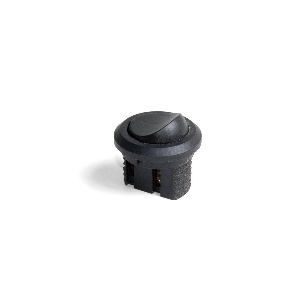 Interruptor Emuca de empotrar en plá stico negro