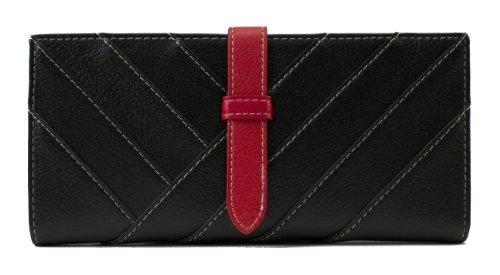 Scarleton Womens Stripe Drawstring Wallet H332001 – Black, Bags Central
