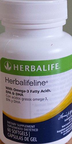 Nuevo Herbalifeline con Omega-3 ácidos grasos EPA DHA 60 Softgles por Siamproviding