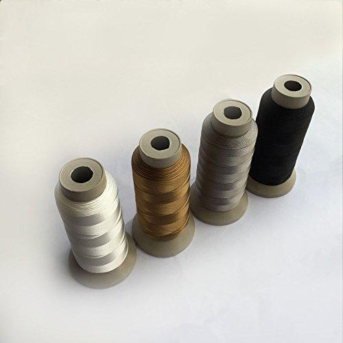 Eastern Fashional Life Heavy-Duty Size T70 #69 Bonded Nylon Sewing Thread - 1500 Yard Spool(Black&White&Grey&Brown) 69 Bonded Nylon Thread