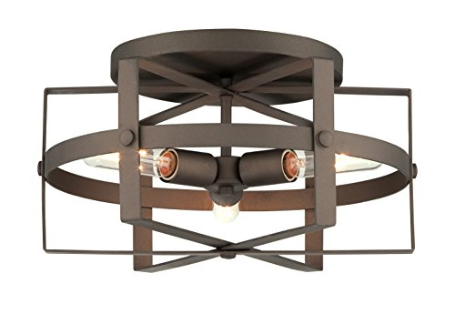 Varaluz 242S03RB Reel 3-Light Flush - Rustic Bronze Finish by Varaluz