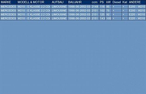ETS-EXHAUST 52300 Endtopf Auspuff Anbauteile f/ür W210 - E KLASSE 2.2 CDi LIMOUSINE 116//102//125//143hp 1998-2002